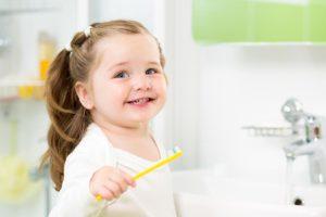 Smiling Kid With Clean Teeth
